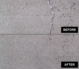 before and after crack image