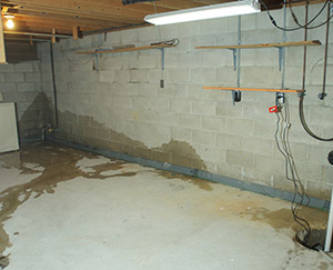 image of wet basement