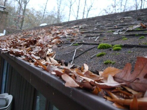 clogged gutters image